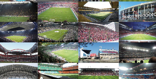 op European football stadiums