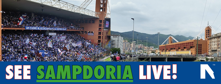 book Sampdoria tickets and trips in 2017/18