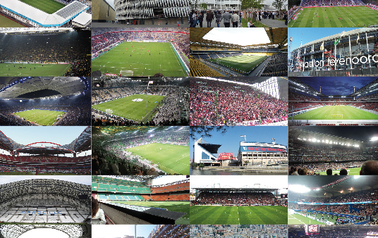 op European football stadiums